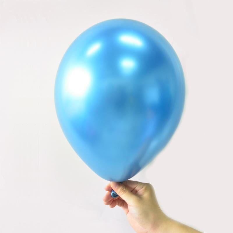 Blue Metal color Latex Balloon - cnsunbeauty