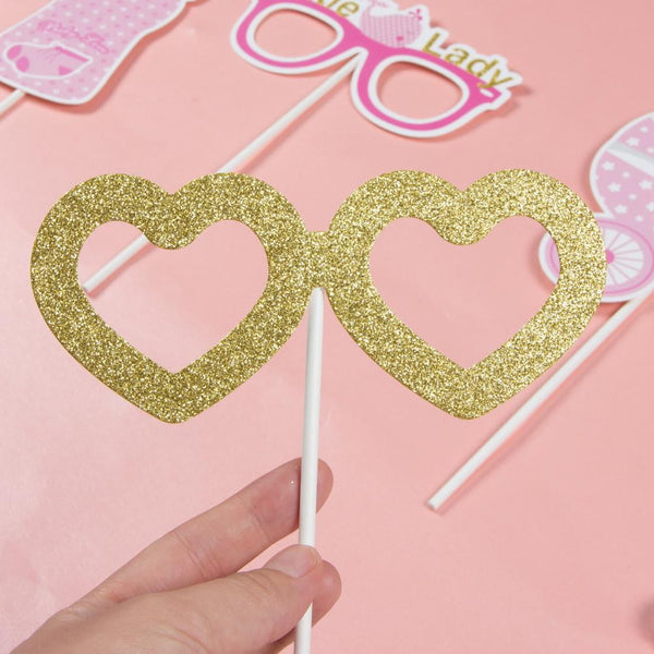 Pink Baby Shower Photo Booth Props(20Pcs) - Sunbeauty