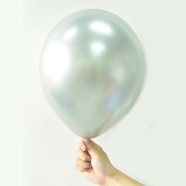Silver Metal color Latex Balloon - cnsunbeauty