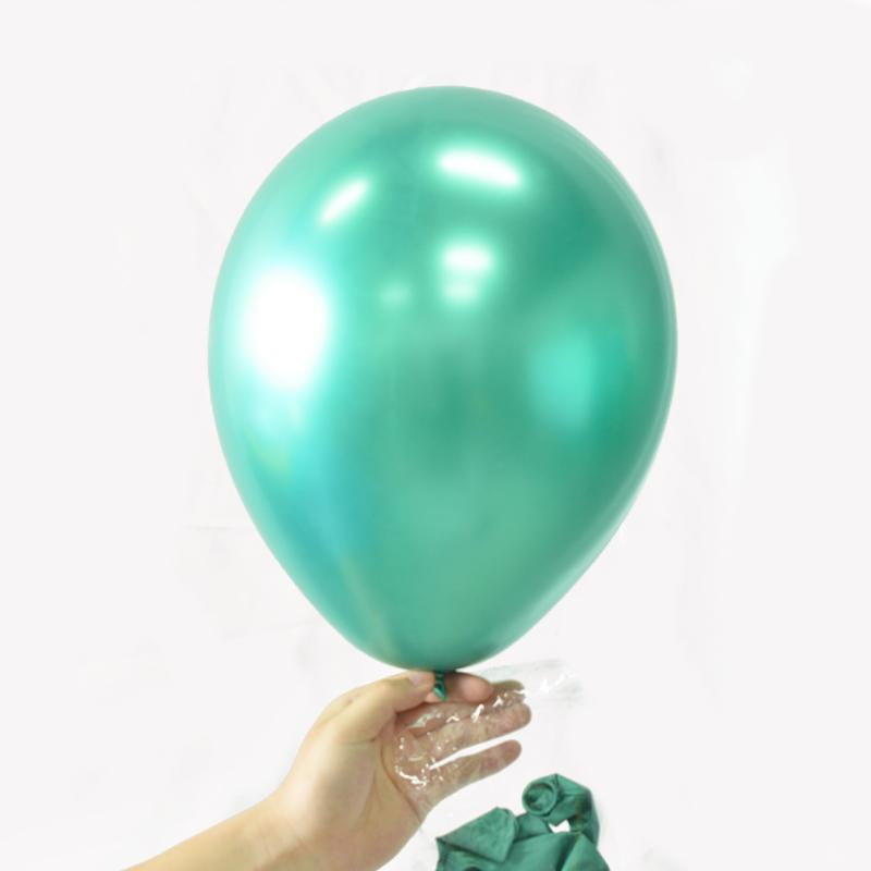 Green Metal color Latex Balloon - Sunbeauty