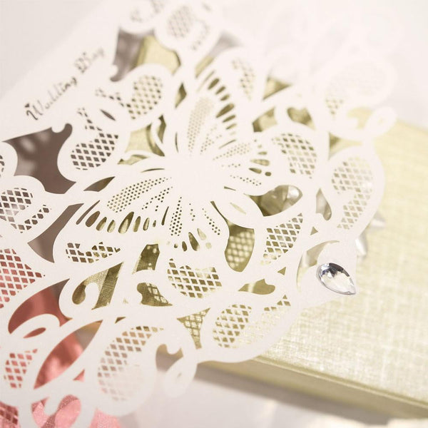 Wedding Diamond Invitation Cards(5Pcs) - Sunbeauty