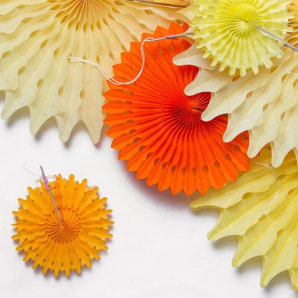Yellow Paper Fan Pinwheel Kit - Sunbeauty