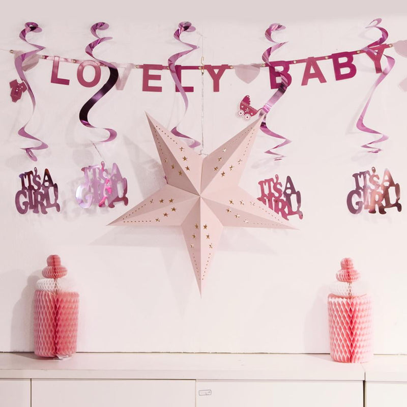 Baby Girl Bottle Honeycomb Decoration Kit - cnsunbeauty