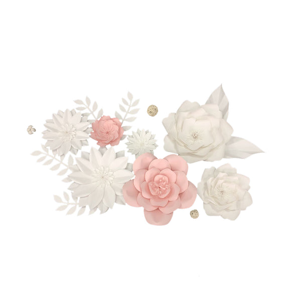 Paper Flowers Backdrop Bridal Shower Background - Sunbeauty