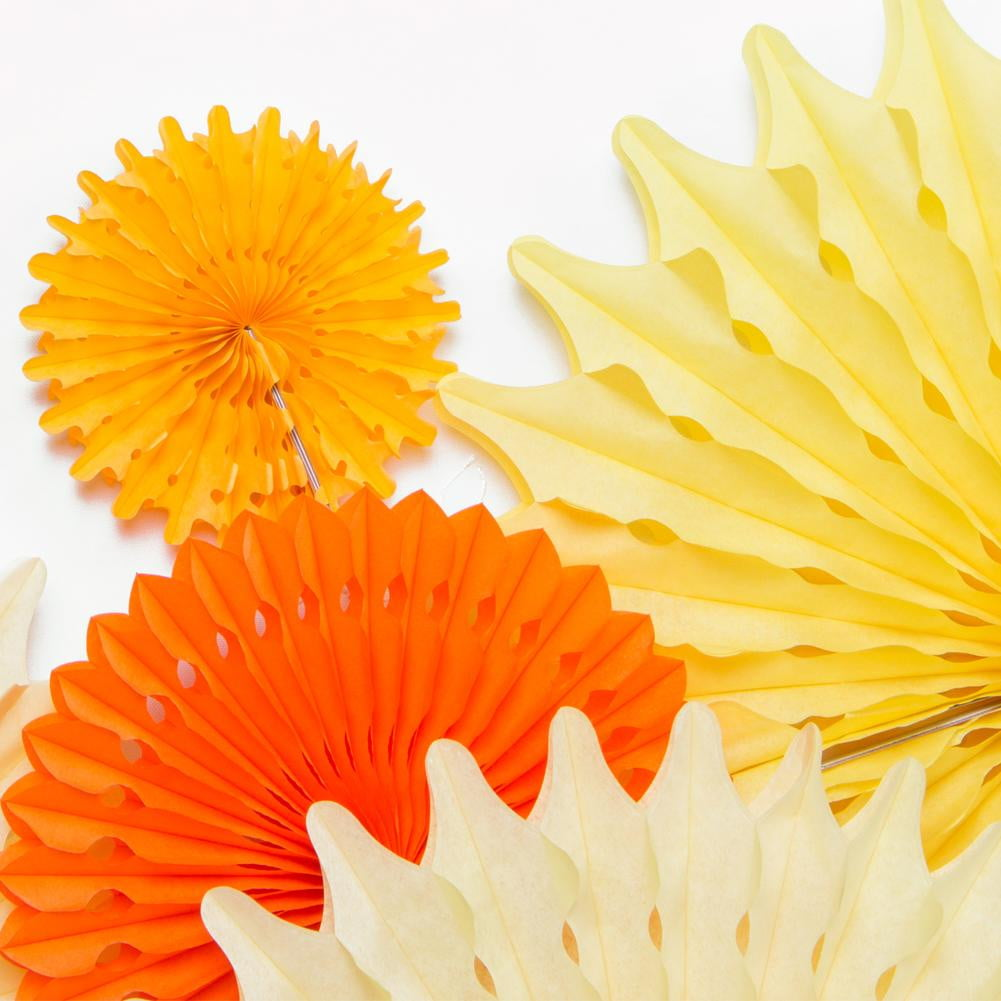 Yellow Paper Fan Pinwheel Kit