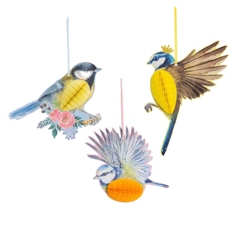Garden Tea Party Birds Honeycomb Decor(3Pcs) - cnsunbeauty
