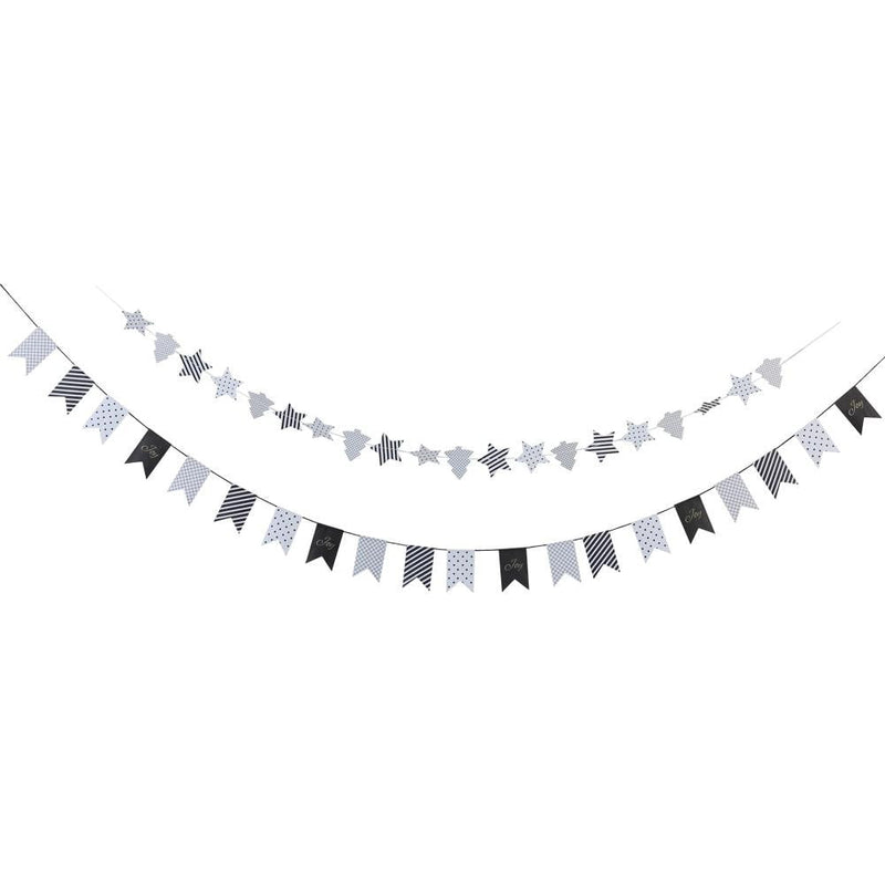 Black and white paper garland - cnsunbeauty