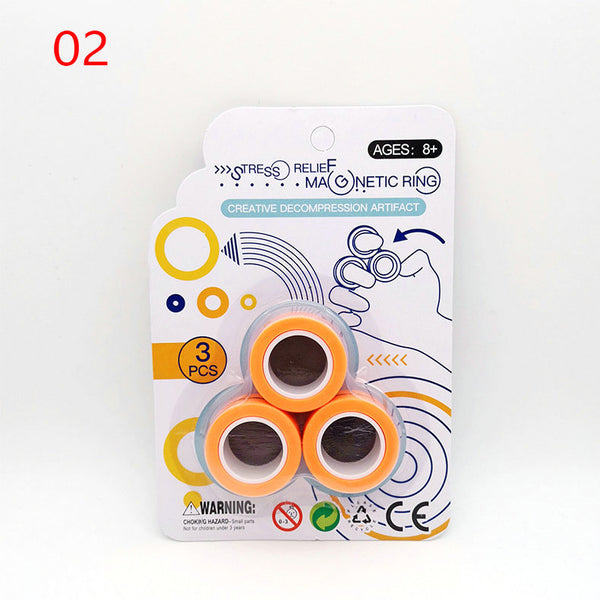 Unzip Toy Magnetic Magical Ring-FreeShipping