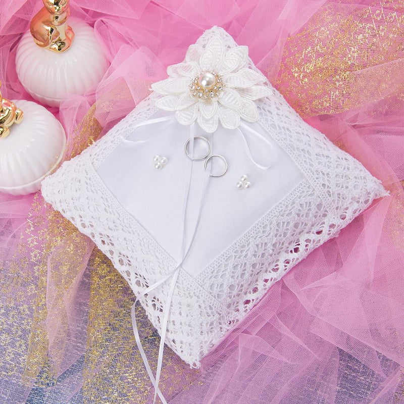 White Ring Pillow for Wedding - cnsunbeauty