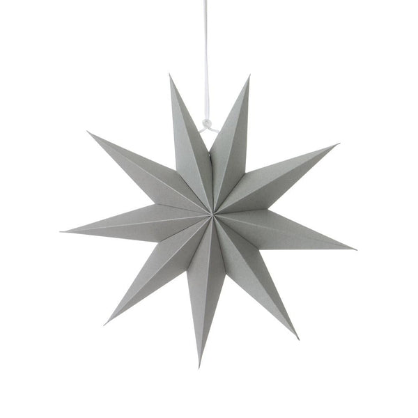 30cm Gray Nine-Pointed Paper Star - Sunbeauty