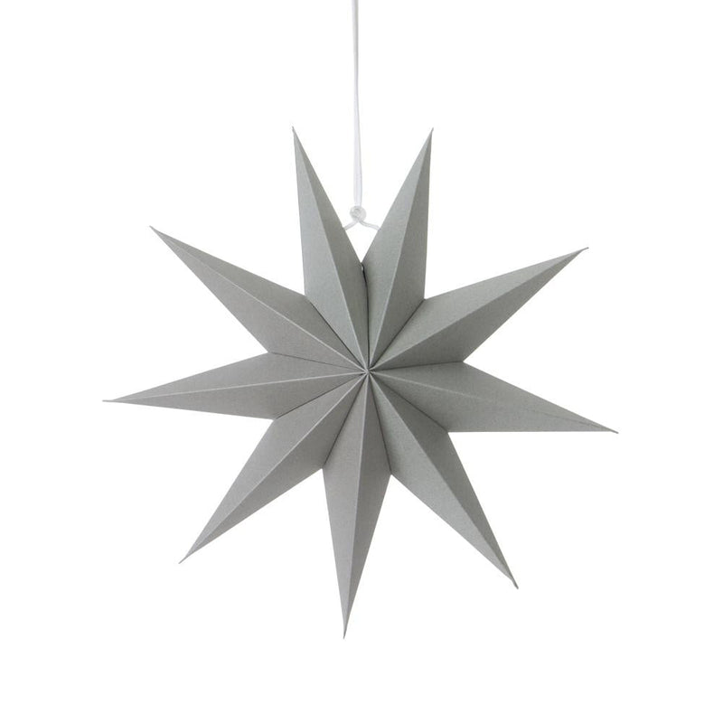 30cm Gray Nine-Pointed Paper Star - cnsunbeauty