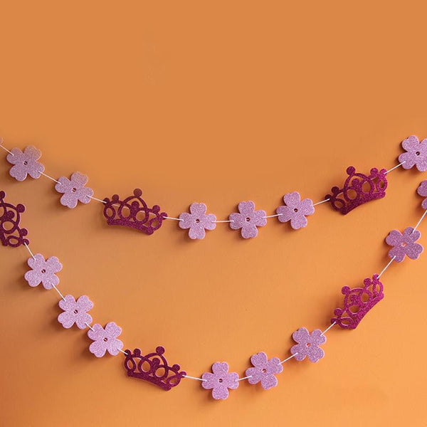 Crown Flower Paper Garland - Sunbeauty