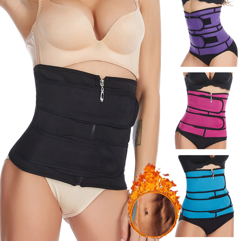 FreeShipping-Double Band Waist Trainer Corset - cnsunbeauty