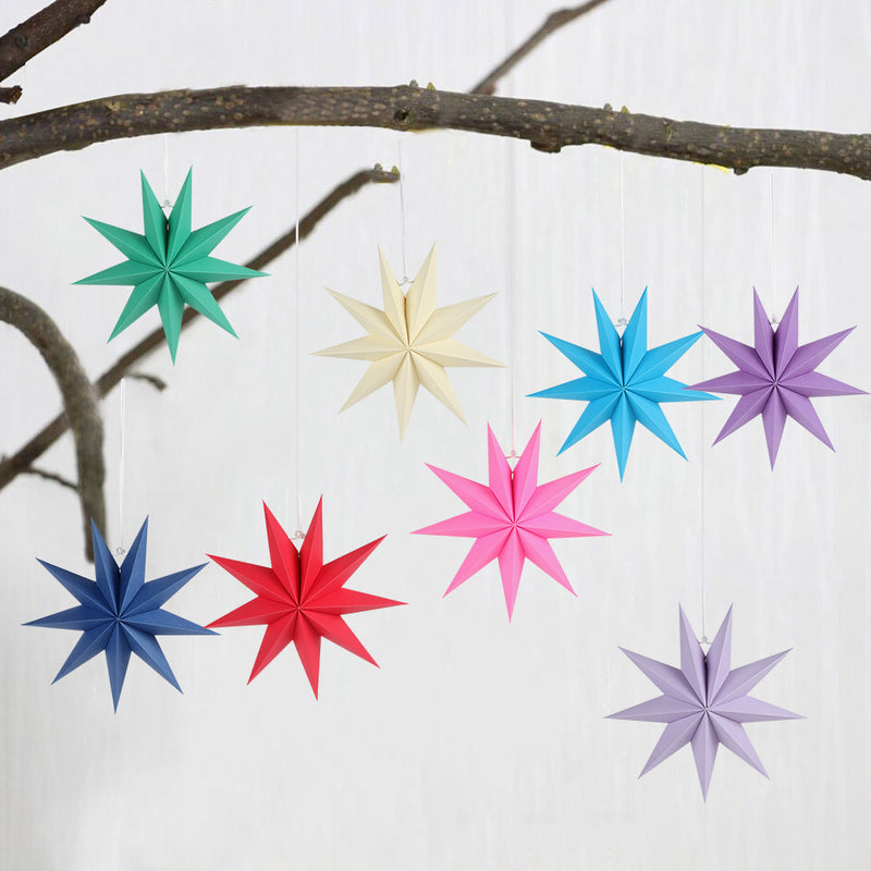 Muti-Color 9 Pointed Paper Star Lantern - cnsunbeauty