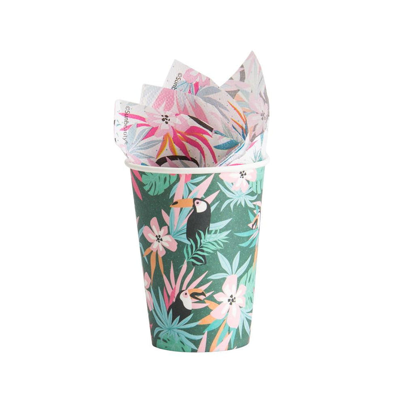 Rainforest Paper Cup(12Pcs) - Sunbeauty