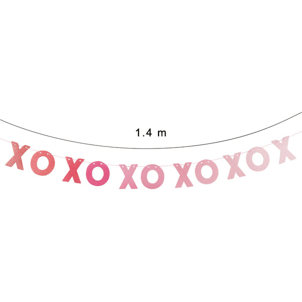 Valentines Decorations for Mantle XOXO custom banners - Sunbeauty
