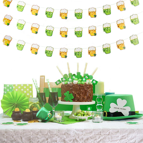 St.Patricks Beer Garland Party Decoration Banner - Sunbeauty