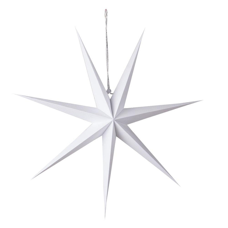 Christmas White Pinhole 7 Point Paper Star - Sunbeauty