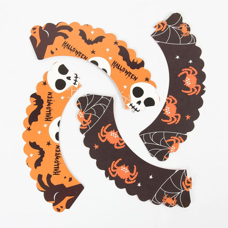 Halloween Cupcake Liners & Topper Decoration Kit