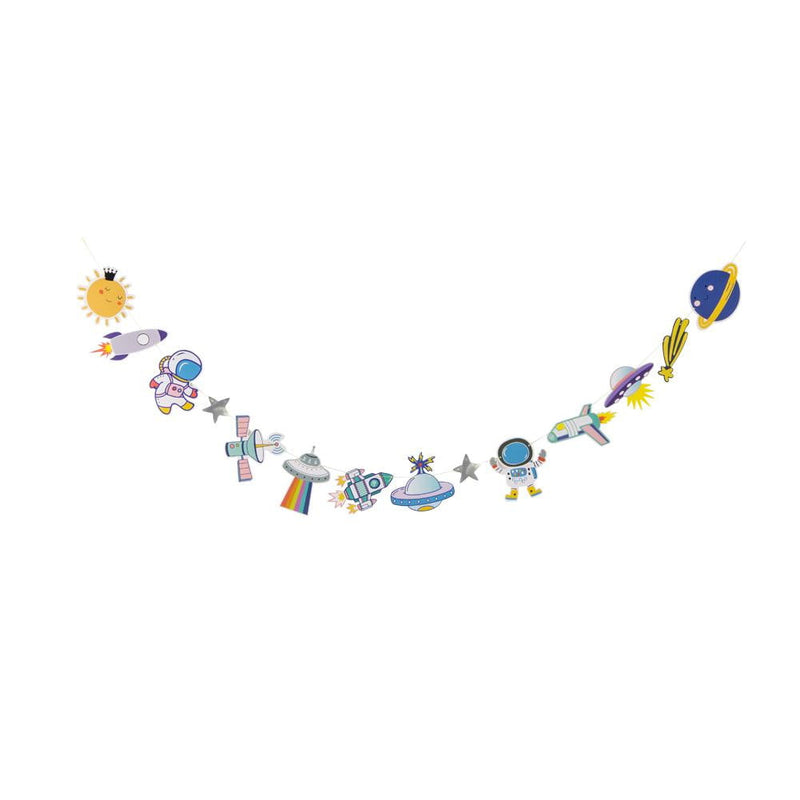 Boys Birthday Space Adventure Flag String - Sunbeauty