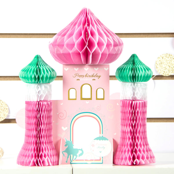 Girl Princess Birthday Castle Honeycomb Centerpiece - Sunbeauty