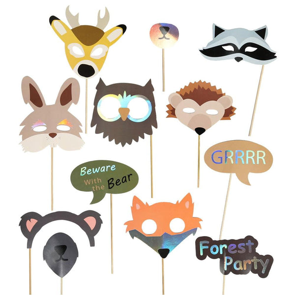 Forest Animal Party Photo Booth Props(12Pcs) - Sunbeauty