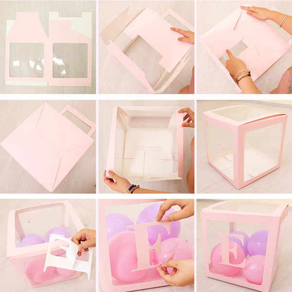4pcs Baby Shower Decor Reveal Backdrop Balloon Transparent Box-FreeShipping - Sunbeauty