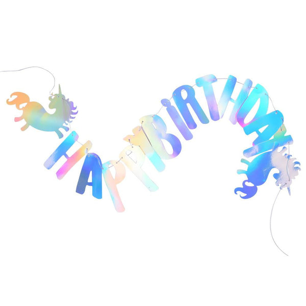 Unicorn Happy Birthday Banner - Sunbeauty