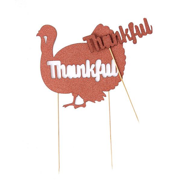 Thankful Turkey Cake Topper - Sunbeauty