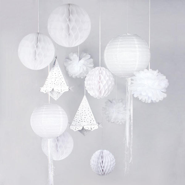 White Wedding Decoration Set(13Pcs)-50Pcs Free Shipping - Sunbeauty