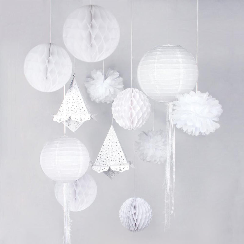 White Wedding Decoration Set(13Pcs)