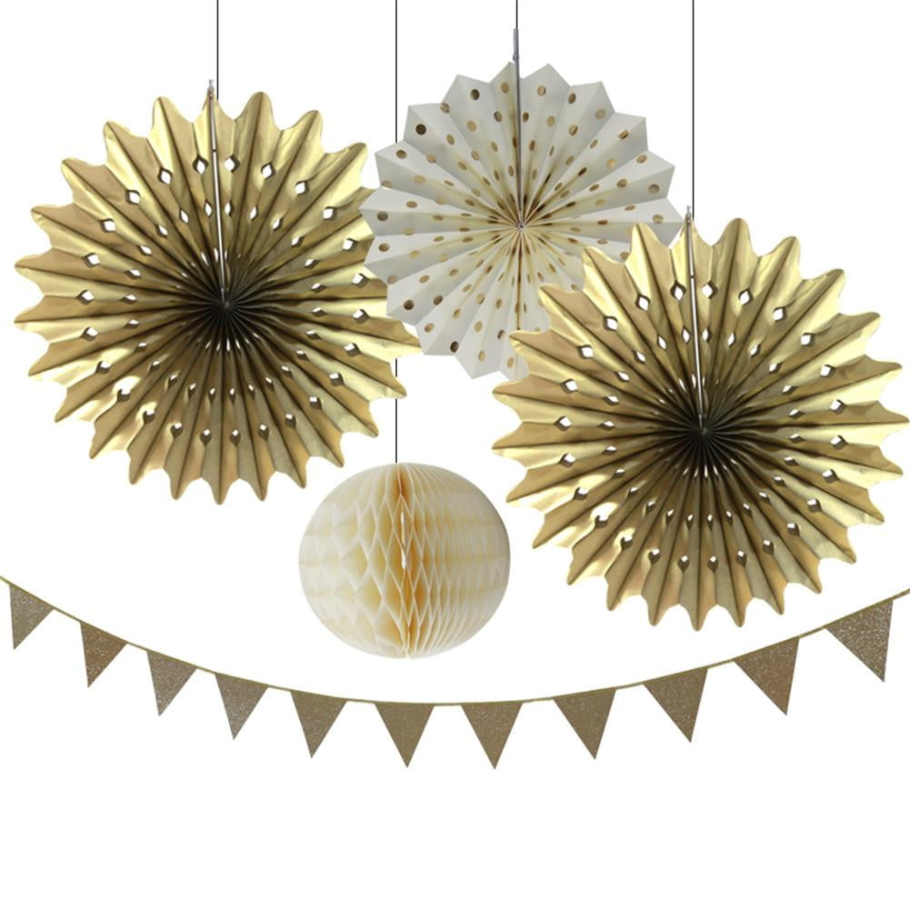 Gold Party Decorations Birthday Party Supplies for Wedding Outdoor Wall Decorations - Sunbeauty