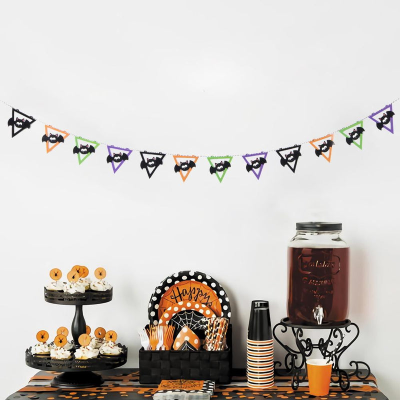 Halloween Bat Triangle Flag Garland - cnsunbeauty