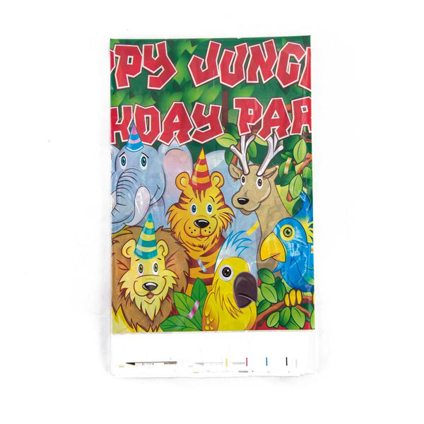 Animal Theme Party Jungle Birthday Table Cloth - Sunbeauty