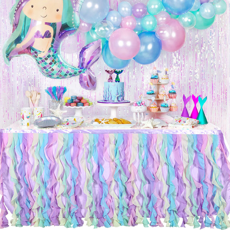 Birthday Party Table Decoation Tulle Table Skirt - cnsunbeauty