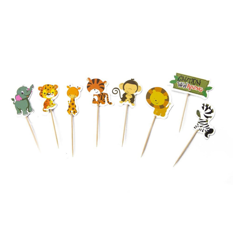Animal Theme Party Jungle Birthday Cake Topper - Sunbeauty