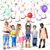 14 Pcs Mixed Color Whirls Party Decoration Hanging Swirls - Sunbeauty
