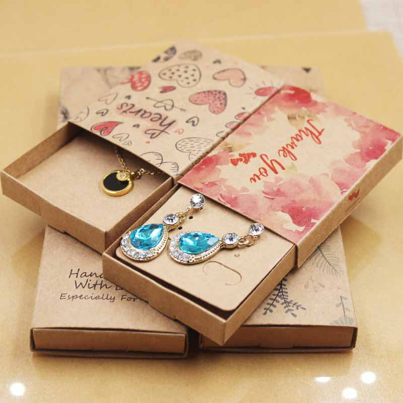 Fashion Jewelry Gift Boxes Small Kraft Paper Boxes - cnsunbeauty