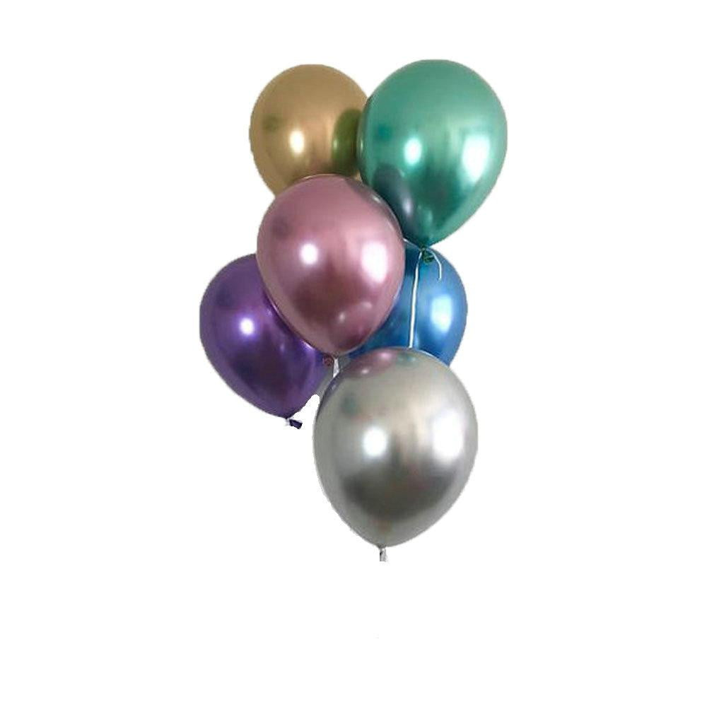 Silver Metal color Latex Balloon - Sunbeauty
