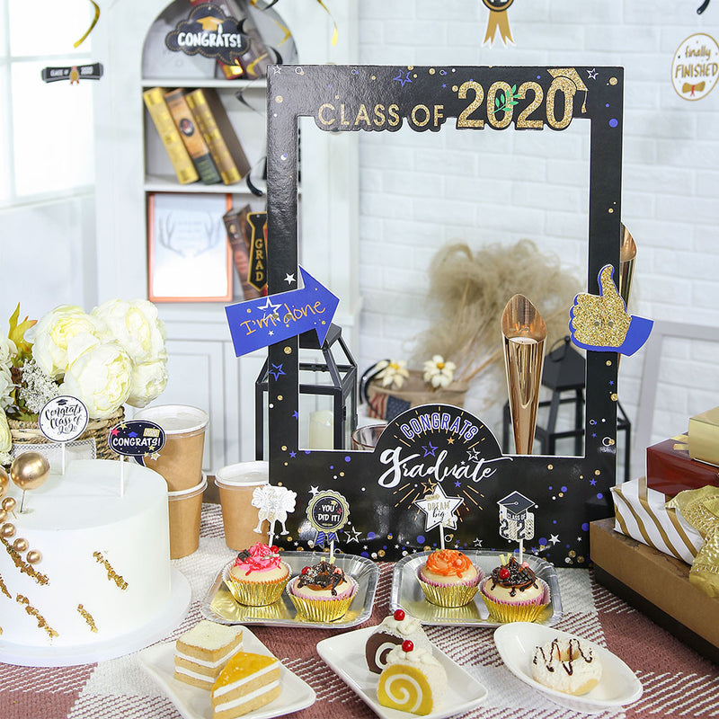 Class of 2020 Grad Party Selfie Picture Frame  Photo Booth Props - cnsunbeauty
