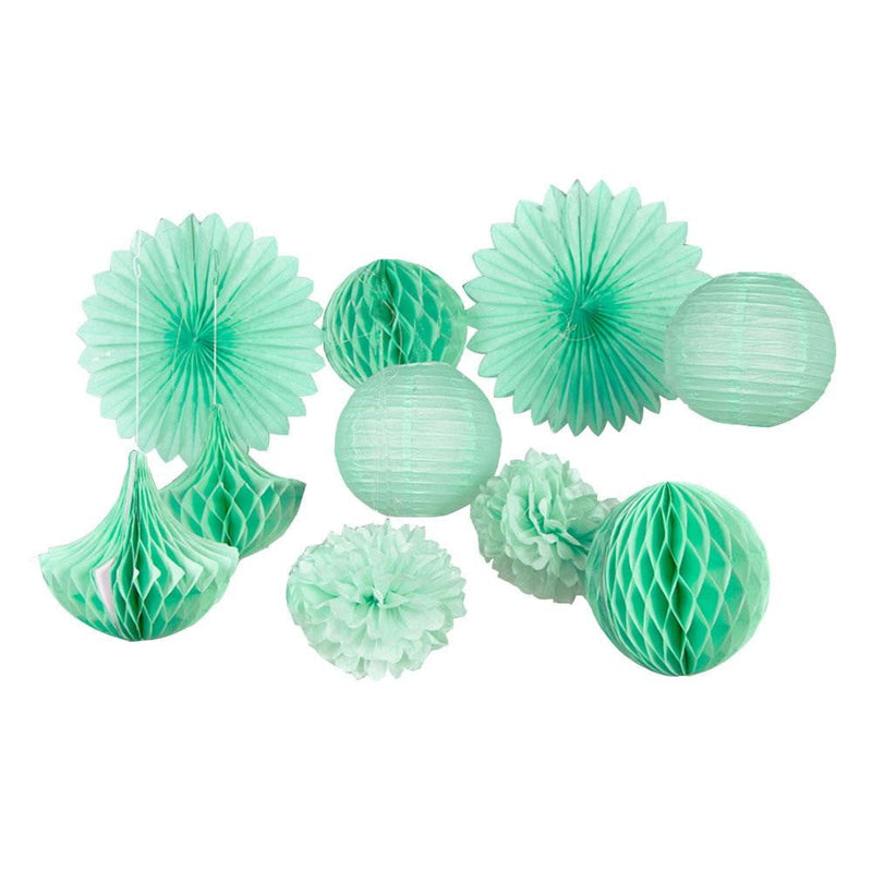 10Pcs Mint Green Tissue Paper Party Decorations - cnsunbeauty