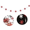 Christmas Party Red and White Hanging Snowflake Garland - Sunbeauty