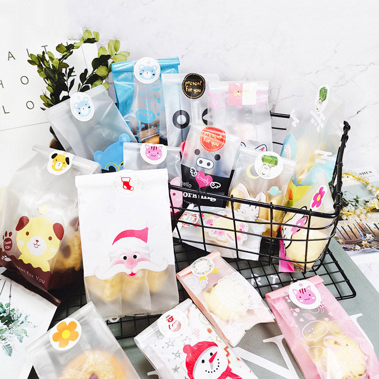 Translucent Plastic Bags for Cookie,Cake,Chocolate,Candy,Snack - Sunbeauty