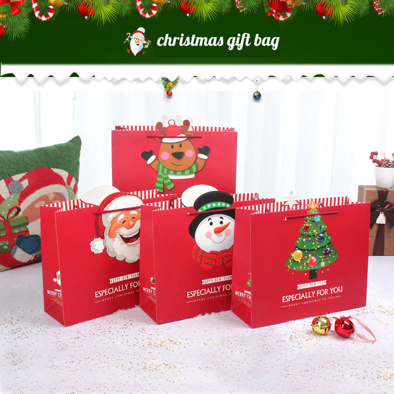 Recyclable Christmas Gift Bags for Wrapping Holiday Gifts - Sunbeauty