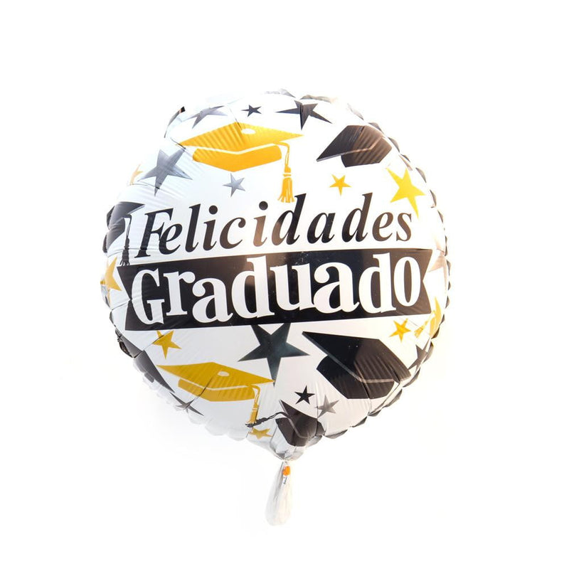 Spanish Graduation Foil Balloon(White) - cnsunbeauty