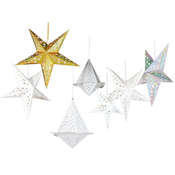 Christmas Party LED Paper Star Lanterns-50Pcs Free Shipping - Sunbeauty