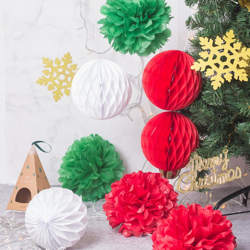 Merry Christmas Red / White / Green Home Decoration (8Pcs) - cnsunbeauty
