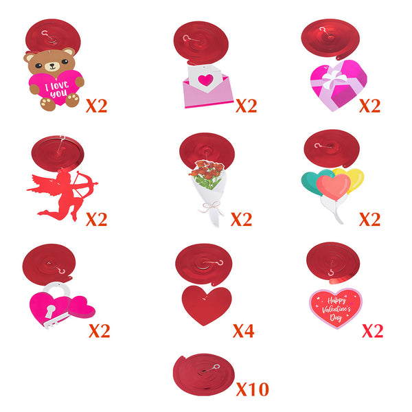 Valentines Day Decorations Cupid Hanging Swirls - Sunbeauty