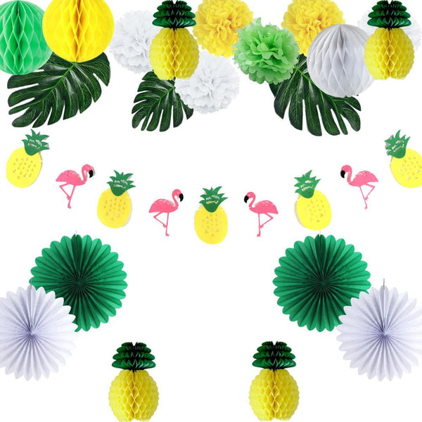Tropical Decorations Hawaiian Party Flamingo Pineapple Decoration for Summer - Sunbeauty