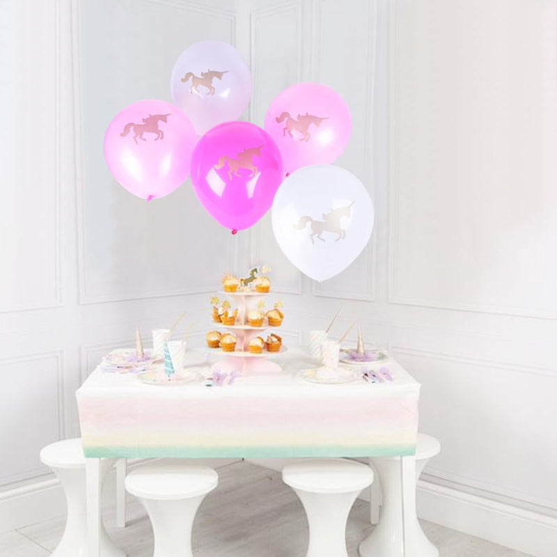 12 inch Unicorn Latex Balloon(5Pcs) - Sunbeauty